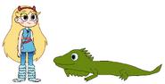 Star meets Green Iguana