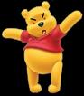 Very mad pooh bear