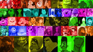 A rainbow of animated movie characters part 2 by michaelsar-d744irc