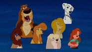 Patou, Perdita, Sasha, Rita, Roxanne, Peg, and Dixie says Good Luck See Ya Later by DaveGrrrrrrruly