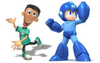 Sheen Estevez and Mega Man