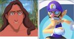 Tarzan and Waluigi