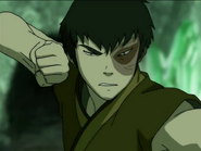 Zuko about to attack Aang