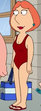 Lois red swimsuit