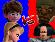 Nate and Penny vs Skinner and O'Hare