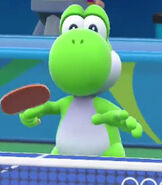 Yoshi in Mario and Sonic at the Rio 2016 Olympic Games