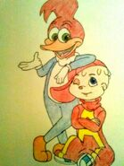 Alvin seville and woody woodpecker colored by sawyerseville-d61rksi