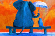 Elephants Under the Umbrella Tree