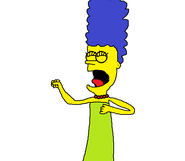 Marge beats her chest