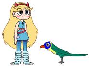 Star meets Rainbow Lorikeet
