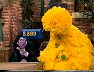 The Count puts Big Bird to sleep with a birdie-pox lullaby