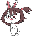 Atsuko as an European Rabbit