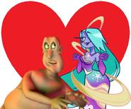 Globglogabgalab and Starlane Stroll Lady love together