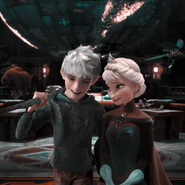 Jack Frost and Elsa (Rise of the Guardians and Frozen)