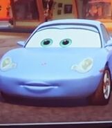 Sally in Lightning McQueen's Racing Academy
