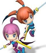 Kat & Ana in Super Smash Bros. Brawl