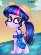 Sci-Twi's beach time