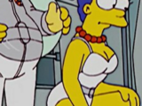 Marge Simpson in Her White Swimsuit