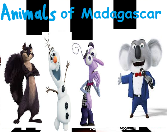 Animals of Madagascar (TheLastDisneyToon and Toonmbia Style)