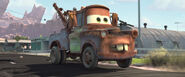 Mater drives in the new road