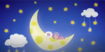 Pillow Featherbed Sleeping on the moon