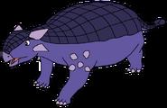 Sarah Spacebot ankylosaurus form dinosaur in thespacebotsadventuresseries