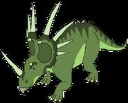 Simon Spacebot styracosaurus form dinosaur in thespacebotsadventuresseries