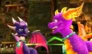 Spyro and Cynder shackled