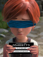 Felicie Milliner blindfolded