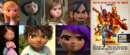Penny, Coraline Jones, Riley Andersen, Vanellope von Schweetz, Margo, Tip and Mai hates R Rated of Suicide Squad from 2021