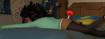 Tranquilizer Dart in Fei Fei's Butt