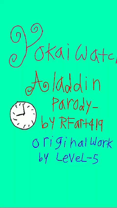 Yokai Watch - Aladdin parody by RFART419 (2020)