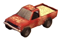 Huge Red Pickup Truck Toy