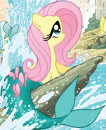 Micro-Series issue 4 Fluttershy as Ariel