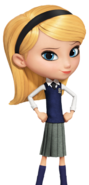 Penny Peterson in her school clothes