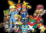 Protagonists and Pokémon XY
