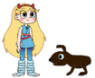 Star meets Amami Rabbit