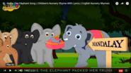 Vintage Nursery Rhymes Elephants