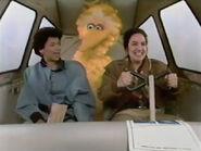 Big Bird and Maria take flight on Gloria's airplane in episode 3045