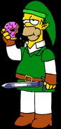 Homer Simpson as Link