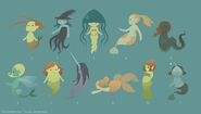 Mermaid Concepts by DoodleBuggy