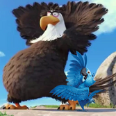 Mighty Eagle and Blu