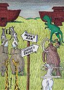 Religion-genesis-noah s ark-singles-cruises-bible stories-dren dinosaur and mammoth 2183 low