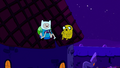 Finn and jake in the roof