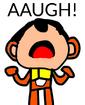 Bingo yelling AAUGH