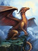 Brass European Dragon