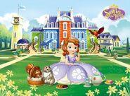 Princess Sofia drinking tea
