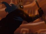 King Triton Destroys Ariel's Grotto
