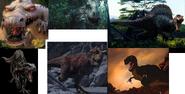 Rudy, Indominus Rex, Spinosaurus, Indoraptor, Carnotaurus and Sharptooth