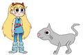 Star meets Domestic Cat